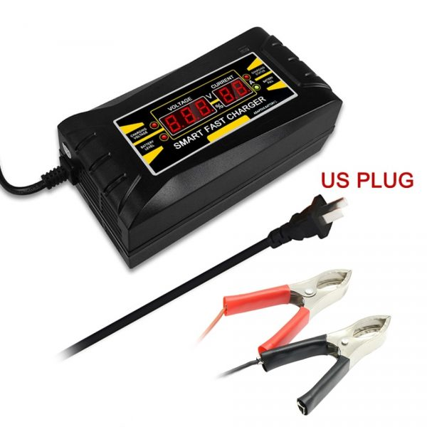 Car Battery Charger 12V 8A/2A Pulse Repair LCD Battery Charger For Car Motorcycle Lead Acid Battery Gel Wet Dry Lead Fast Charge