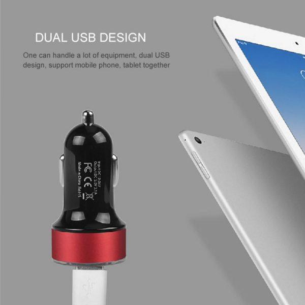 Dual Port 3.1A USB Car Cigarette Charger Lighter Digital LED Voltmeter Battery Charging Units