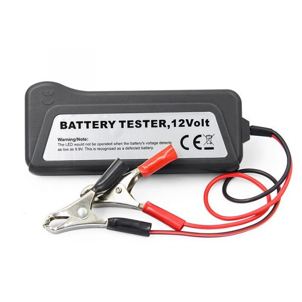 Mini 12V Car Battery Tester 6 LED Lights Display Auto Car Diagnostic Tool Car Battery Alternator for Cars Vehicle Motorcycle