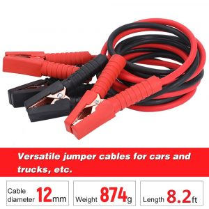 8.2inch Emergency Power Start Cable Quality Booster Jumper Cable Heavy Duty Car Battery Jumper Booster Line Copper Wire