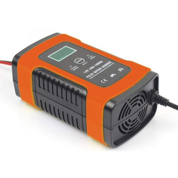12V Pulse Repair Charger With LCD DisplayAGM GEL Lead Acid Battery Storage Charger Motorcycle Car Battery Charger Auto Parts