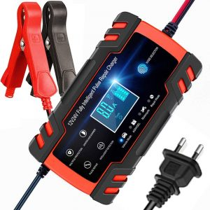 12V/8A 24V/4A Pulse Repair Charger with LCD Display, Motorcycle & Car Battery Charger, AGM Deep cycle GEL Lead-Acid Charger