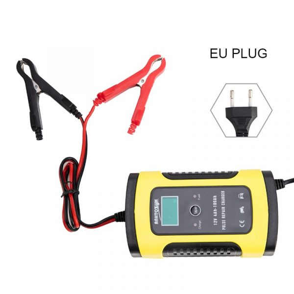 12V 6A Full Automatic Car Battery Charger Power Pulse Repair Chargers Wet Dry Lead Acid Battery Chargers Digital LCD Display
