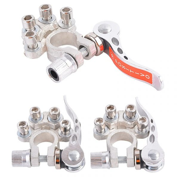1 Pair Toolless Quick Disconnect Battery Main Cable Post Terminal Shut-Off Connectors 12v 6v 24v Boat Race Car UTV Tractor Truck